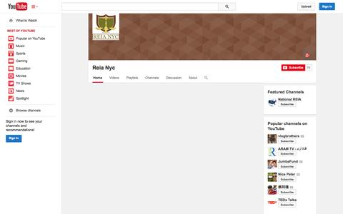 Screenshot of YouTube Page youtube.com - Reia Nyc  - YouTube - captured Oct. 25, 2014