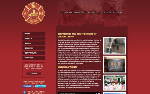 Screenshot of Home Page gearupfoundation.org - A Living Tribute To Those We Lost On 9/11 - Gear Up Foundation - captured Sept. 29, 2014