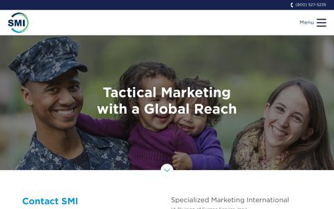 Screenshot of Contact Page smidallas.com - Get Tactical Marketing with a Global Reach - Contact SMI - captured Oct. 18, 2018