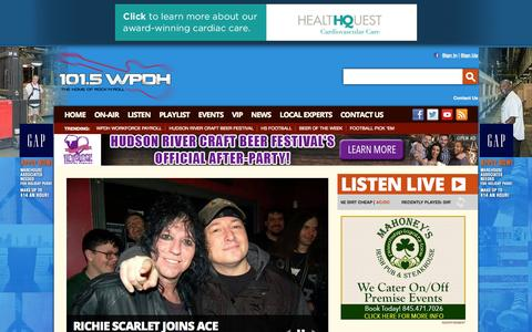 Screenshot of Home Page wpdh.com - 101.5 WPDH Radio – The Home of Rock and Roll – Poughkeepsie Classic Rock Radio - captured Sept. 19, 2014