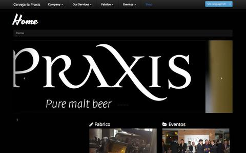 Screenshot of Home Page praxis.pt - Praxis : Home - captured Oct. 3, 2014