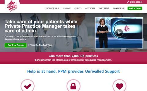 Screenshot of Home Page ppmsoftware.com - PPM Software Ltd - Website - captured Jan. 23, 2016