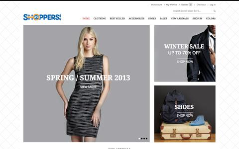 Screenshot of Home Page shoppers-court.com - Home page - captured Oct. 7, 2014