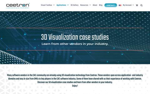 Screenshot of Case Studies Page ceetron.com - 3D Visualization case studies using Ceetron 3D visualization technology - captured Sept. 27, 2018