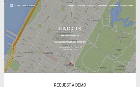 Screenshot of Contact Page customertimes.com - Contact information of CustomerTimes - captured Dec. 13, 2015