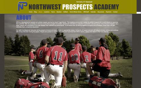 Screenshot of About Page northwestprospectsacademy.com - NPA | About | Northwest Prospects Academy - captured Nov. 2, 2014