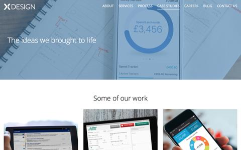Screenshot of Case Studies Page xdesign.com - Case Studies | xDesign | App Developers | UK - captured Dec. 19, 2016