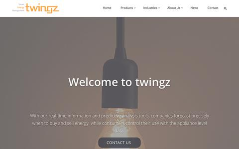 Screenshot of Home Page twingz.com - twingz – Smart Energy Management - captured Oct. 24, 2017