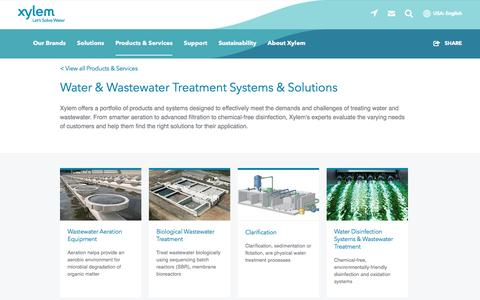 Screenshot of Services Page xylem.com - Water & Wastewater Treatment Systems | Xylem US - captured Nov. 9, 2019