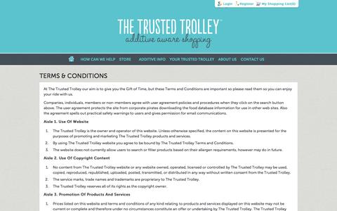 Screenshot of Terms Page thetrustedtrolley.com.au - Terms & Conditions | The Trusted Trolley - captured Oct. 9, 2014