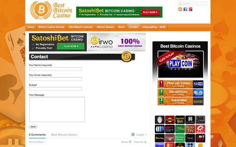 Screenshot of Contact Page bestbitcoincasino.com - Contact - captured Sept. 30, 2014