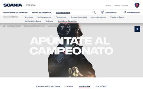 Screenshot of Signup Page scania.com - Inscripción | Scania España - captured Oct. 11, 2018