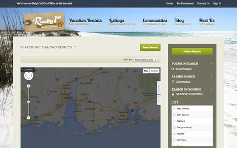 Screenshot of Maps & Directions Page gulfshoresrealestate.com - All Property Types in All Cities - captured Oct. 26, 2014