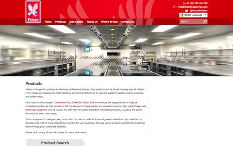 Screenshot of Products Page falconfoodservice.com - Falcon Food Service | Commercial Catering Product Range - captured Oct. 5, 2014
