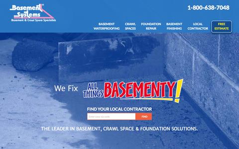 Basement Waterproofing Information and Estimates | Wet Basement Contractors at Basement Systems