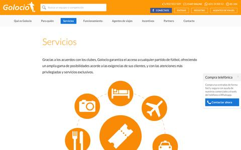 Screenshot of Services Page golocio.com - Golocio - Golocio - captured Dec. 6, 2015
