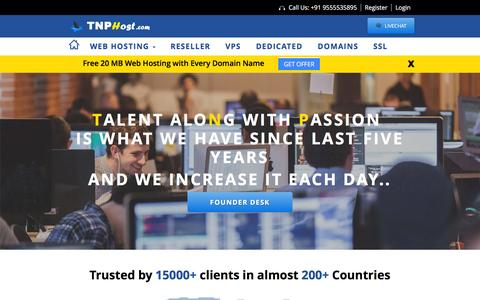 Screenshot of About Page tnphost.com - About Us - TNP HOST Web Hosting - captured Jan. 12, 2016