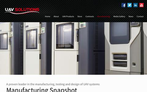 UAV Solutions Manufacturing - UAV Solutions