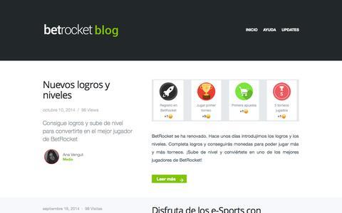 Screenshot of Blog betrocket.com - Blog BetRocket - Torneos de apuestas deportivas - El mejor juego de pronósticos deportivos, juega a nuestros torneos de apuestas deportivas. Informate en nuestro blog. - captured Oct. 27, 2014