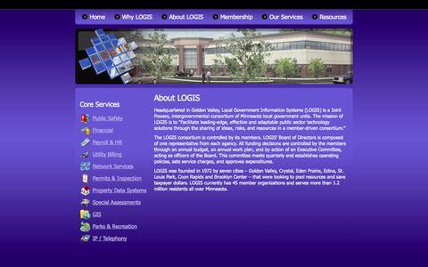 Screenshot of About Page logis.org - About LOGIS | LOGIS - captured Sept. 26, 2014