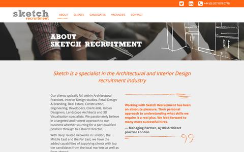 Screenshot of About Page sketchrecruitment.com - Sketch Recruitment | About Sketch Recruitment - captured June 13, 2017