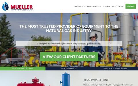 Screenshot of Home Page muellerenvironmental.com - Mueller Environmental - captured Aug. 12, 2015