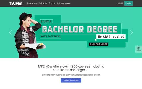 TAFE NSW - Be Ambitious, Choose Over 1,200 Courses - TAFE NSW