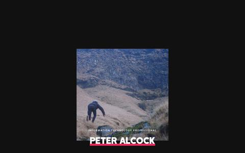 Screenshot of Home Page peteralcock.com - Peter Alcock – Sleepless in New York - captured Nov. 2, 2018