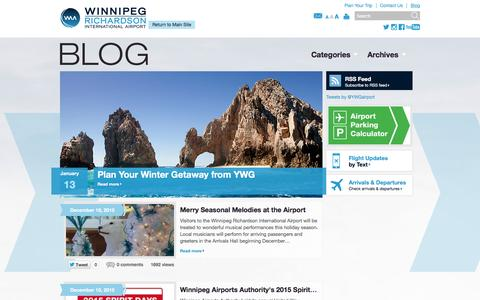 Screenshot of Blog waa.ca - Blog | Winnipeg James Armstrong Richardson International Airport - captured Feb. 15, 2016