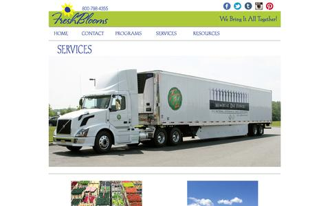 Screenshot of Services Page freshblooms.com - FreshBlooms.com - Services - captured Sept. 30, 2014