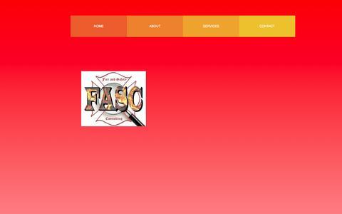 Screenshot of Services Page fascg.com - Services - captured Feb. 10, 2016