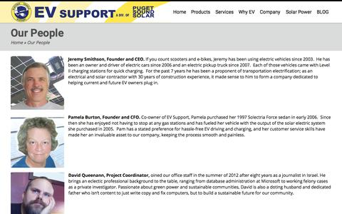 Screenshot of Team Page evsupport.com - EVSE Specialists & Solar Electricians in Washington | EV Support - captured July 15, 2018