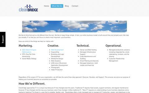 Clearbridge  |  Services