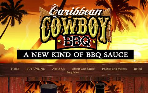 Screenshot of Products Page caribbeancowboybbq.com - Products | Caribbean Cowboy BBQ - captured July 15, 2017