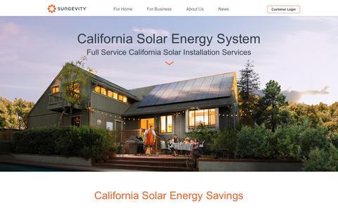 Screenshot of Locations Page sungevity.com - California Solar Panel Installation | Sungevity - captured Jan. 23, 2020