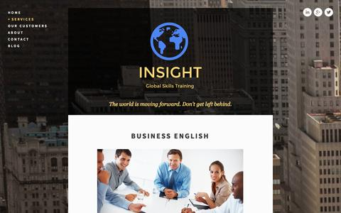 Screenshot of Menu Page insight-global.de - Business English — INSIGHT - captured Oct. 6, 2014