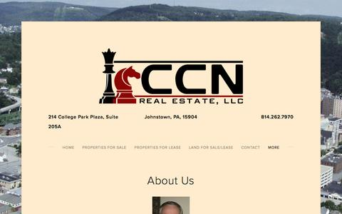 Screenshot of About Page ccnpropertiesllc.com - About Us — CCN Real Estate - captured May 12, 2017