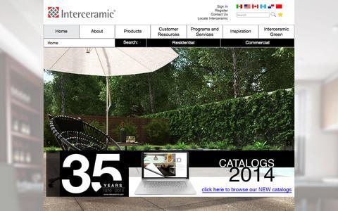 Screenshot of Home Page interceramic.com - Home | Interceramic USA - captured Sept. 25, 2014