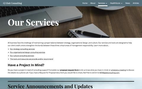 Screenshot of Services Page google.com - G| Glatt Consulting - Services - captured May 18, 2017