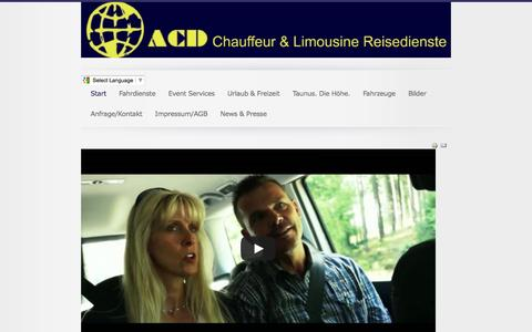Screenshot of Home Page acd-germany.de - ACD Chauffeur & Limousine Reisedienste - captured June 9, 2016