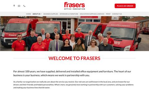 Screenshot of About Page frasersoffice.co.uk - About Us – Frasers Office - captured Feb. 7, 2018