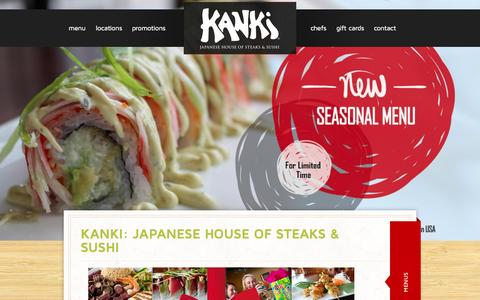 Screenshot of Home Page kanki.com - Japanese Steakhouse & Sushi Bar Raleigh-Durham NC | Kanki - captured Jan. 30, 2015