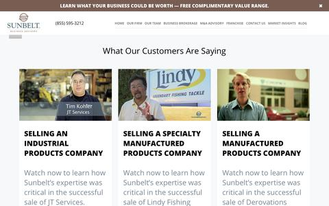 Screenshot of Testimonials Page sunbeltmidwest.com - Testimonials - Sunbelt Midwest - captured Dec. 9, 2018