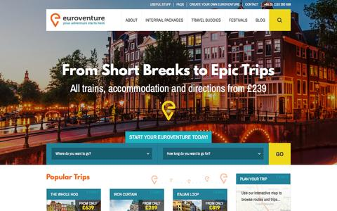 Screenshot of Home Page euroventure.eu - Euroventure | Your Adventure Starts Here - captured June 17, 2015