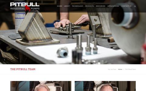 Screenshot of Team Page pitbullpumps.com - The Pitbull Team - Pitbull Industrial Pumps - captured Nov. 5, 2016