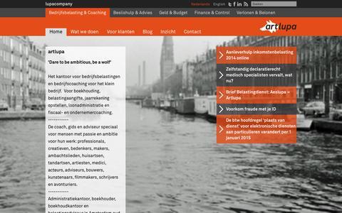 Screenshot of Home Page artlupa.com - Artlupa - captured Jan. 27, 2015