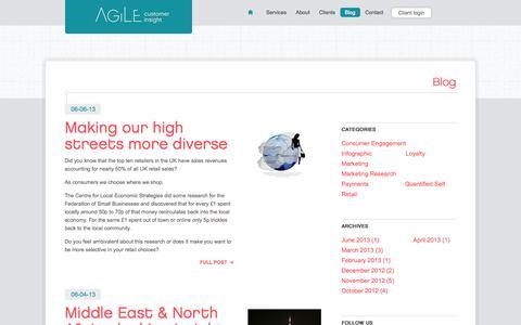 Screenshot of Blog agile.ci - AGILEci | Blog - captured Sept. 13, 2014