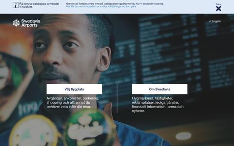 Screenshot of Home Page swedavia.se - Swedavia - captured Oct. 24, 2017