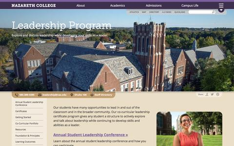 Screenshot of Team Page naz.edu - www.naz.edu :: Leadership Program - captured Sept. 24, 2016