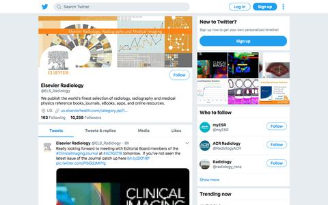 Tweets by Elsevier Radiology (@ELS_Radiology) – Twitter